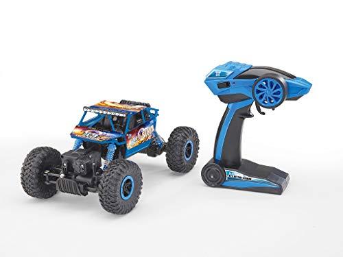 RC Auto kaufen Crawler Bild 6: Revell Control Technik 24712 RC Car, Konstruktionsbausatz Crawler, 2.4GHz, 4WD Allradantrieb, Off-Road-Reifen, Do-It-Yourself, ferngesteuertes Auto zum Selberbauen, blau, 27,5 cm*