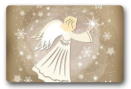 Decor tapijt engel komen in de kerst te sturen wensen decoratieve deurmat douche/vloer/badkamer binnen/buiten deurmat Decor niet-geweven stof niet slip 15.7x23.6inches,40x60cm