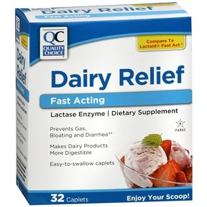 QC Dairy Relief Fast Acting Caplets, 32 ct