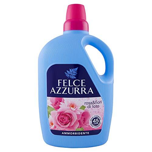 Felce Azzurra - Ammorbidente Diluito Rosa e Fiori di Loto, Fresco Profumo, Capi Morbidi - Maxi Formato 45 Lavaggi - 3000 ml