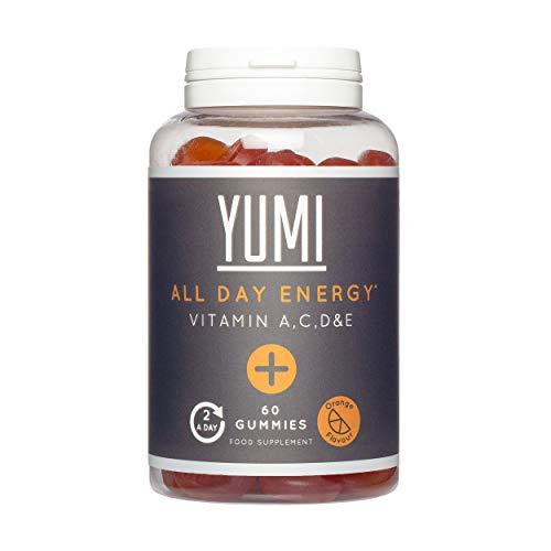 Gomitas de Suplemento Vegetal Multivitamínico de Energía Todo el Día con Vitaminas A, C, D y E - 60 Gomitas Veganas de Vitamina