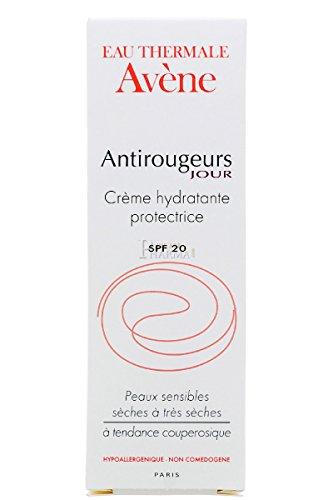 Avene Antirojeces Día Crema Hidratante Protectora, Piel Seca, SPF 20 - 40 ml