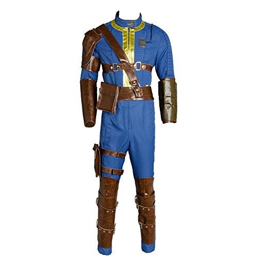 lancoszp Herren Kostüm Nate Cosplay, Halloween-Spiel, Soldat, Kampfuniform, komplettes Set Gr. Large, blau