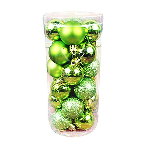 Oamore, Palline Decorative Per Albero Di Natale, In Plastica, 24 Pezzi, Oro, 4Cm/1.57Inch