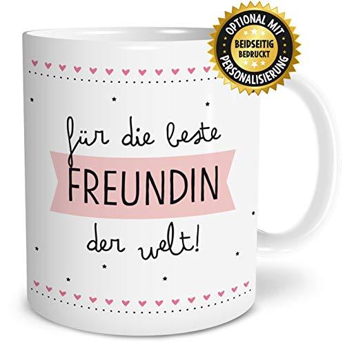 OWLBOOK Beste Freundin Große Kaffee-Tasse mit Spruch im Geschenkkarton Geschenke Geschenkidee für die Beste Freundin Geburtstag Ostern