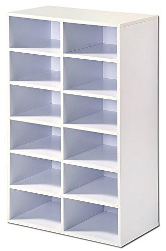 Kesper Universalschrank, Holz, weiß, 51.5 x 29.5 x 87 cm