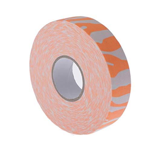 CUTICATE Schlägertape Hockey Tape 25mm für Eishockeyschläger - Orange Zebra