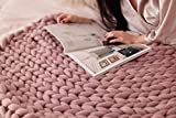 HomeModa Knit Blanket Throw Soft Rug Sofa Bed Lounge Decorator Knitted Small Size Pet Bed Mat Rug (40 x 60 inches- Standard Blanket, Light Grey)