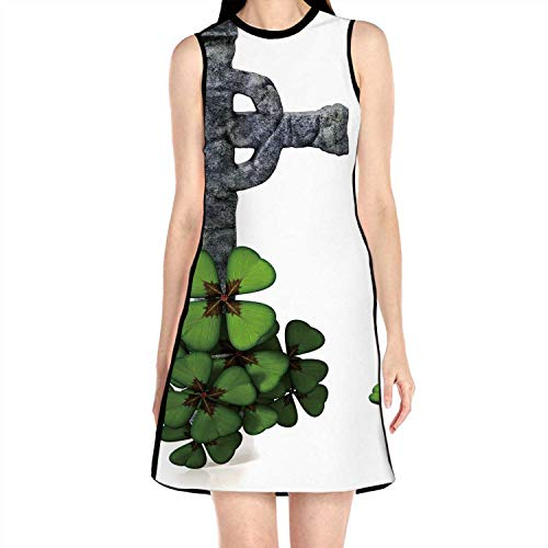 Celtic Clover,Summer Fashion Lady Dres L