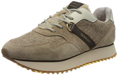 GANT FOOTWEAR Damen BEVINDA Sneaker, Mud Brown, Mud Brown, 38