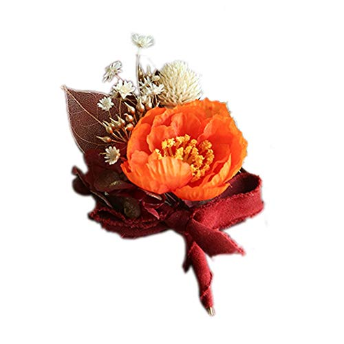 MYW Corsage Wedding Party Pols Bloemen High-end prachtige handgemaakte Hand Flower Decoration (Color : Red, Size : Corsage)
