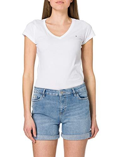 edc by ESPRIT Damen Jeans Shorts, 903/BLUE Light WASH-New Version, 30