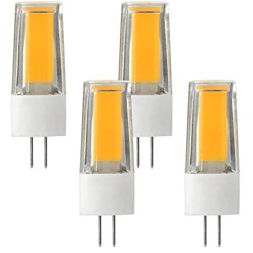 MENGS 4-er Pack Flimmerfrei G4 5W = 40W LED Licht Keramik + PC Kaltweiß 1X5W COB AC/DC 12V
