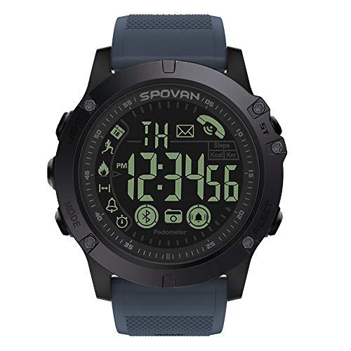 Hffan Instinct – wasserdichte Sport-Smartwatch mit Smartphone Benachrichtigungen und Sport-/Fitnessfunktionen mit GPS, 14 Tage Akkulaufzeit, Hellblau