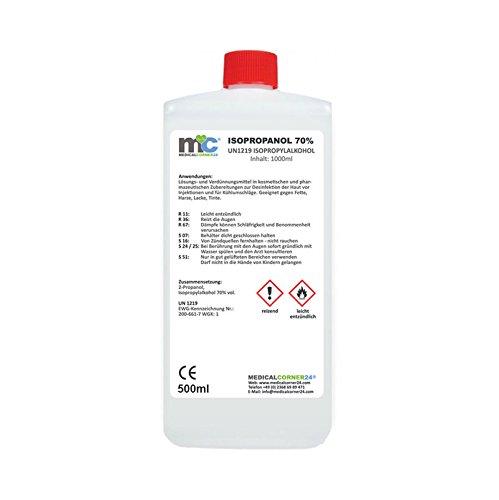 Medicalcorner24® Isopropanol 70% Isopropylalkohol 500 ml 2-Propanol