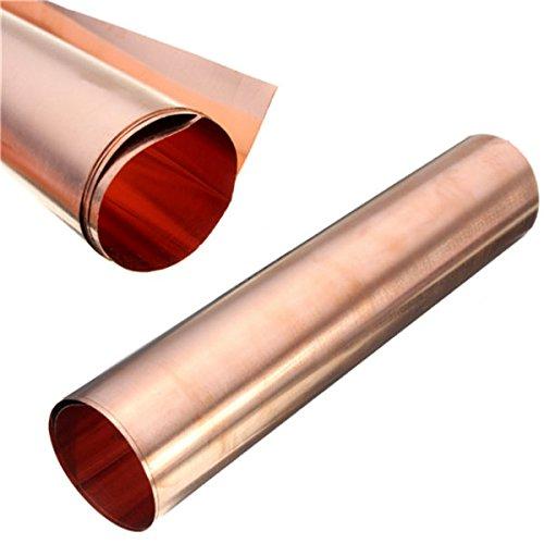 PhilMat 1pc 99.99% rame metallo puro foglio di lamiera di sicurezza per l'artigianato aerospaziale 0.1x200x500mm