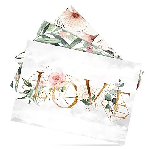 Fairytale Wedding © 52 Postkarten Hochzeit mit Sprüche - Blanko Hochzeit Postkarten 14,8x10,5 cm (A6) für Gäste als Spiel - 52 Wochen bzw. 12 Monate Hochzeitspostkarten als Hochzeitskarten Spiel