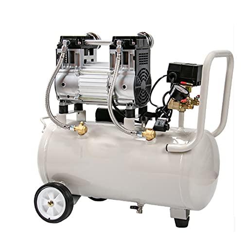 WUK Bomba de Aire sin Aceite Compresor de Aire portátil 15/30 / 35L Silencioso (48dB) 800/980 W Pintura en Aerosol para carpintería de renovación del hogar, compresor de inflado de neumáticos 220V