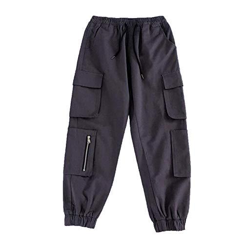 Pantalones vaqueros para mujer, pantalones cargo de moda casual con cinta de cuerda para decoración para vacaciones de verano