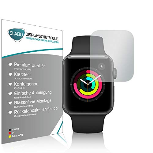 Slabo 4 x Displayschutzfolie für Watch Series 3 (42mm) Displayschutz Schutzfolie Folie No Reflexion | Keine Reflektion MATT