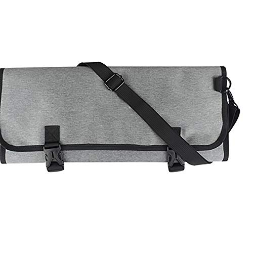 NINAINAI Western Food Knife Storage Bag Portable tableware-wrapped tool bag, multi-function tote bag, kitchenware storage bag, tableware storage bag, 11 chef sets Cutlery Storage Bag