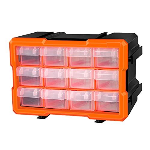 H HILABEE Caja de Herramientas para Almacenamiento, Organizador de Herramientas pequeñas, con Compartimentos, Caja de Herramientas de plástico para Piezas - D