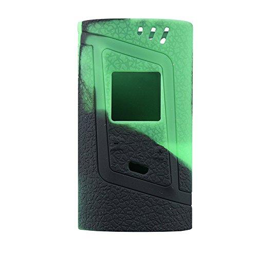 Smok Alien 220W Protective Gel Skin Case Cover Sleeve Wrap Fits 220 Watt Smoktech Alien 220 (Green/Black)
