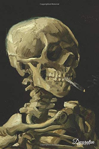 Decorative Notebook Skull with Cigarette by Vincent Van Gogh Journal Pocket sized Notebook Travel product image