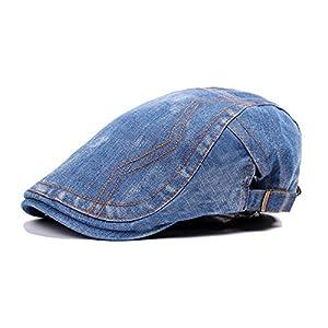 Beret Hats for Women Sleek Minimalist Visor Washed Denim Stitching Cap