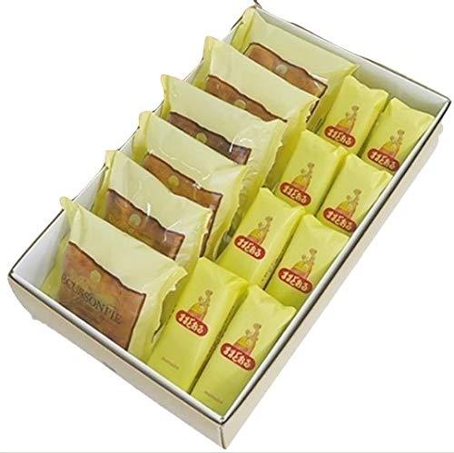【福島のお土産】三万石のままどおる8個エキソンパイ6個詰め合わせ 販売店のお土産袋付き