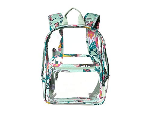 Vera Bradley Clearly Colorful Stadium Backpack Mint Flowers One Size