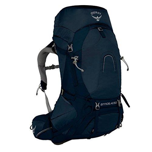 Osprey Mochila Atmos AG 50 litros para Hombre, Azul, L