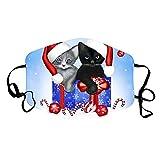 Blingko Erwachsenen Mundschutz mit Motiv Weihnachtsmann Waschbar Mehrweg Multifunktionstuch Atmungsaktiv Stoff Bandana Halstuch Tuch Tücher, Mund und Nasenschutz (1pcs, V)