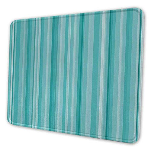 Aqua benutzerdefinierte Mauspad abstrakte Ozean inspiriert Palette Linien geometrisches Bild Mauspad für Frauen Schreibtisch weiß Seafoam hellblau und türkis
