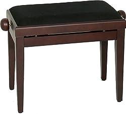 Steinbach Klavierbank höhenverstellbar in Rosenholz matt Hebemechanik wechselbarer Sitzbezug. Die Sitzauflage ist nach dem Kauf wählbar.