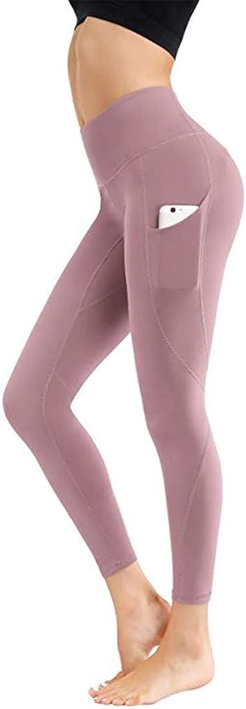 Hotkey Yoga Pants for Women, Butt Lift Sports Tights Full Length Running Fitness Leggings Pockets Yoga Active Pants