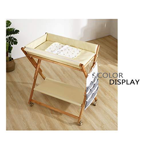 KYSZD-Baby Neugeborene Kommode Tisch Wickeltisch mit Sicherheitsgurten, Faltbarer, platzsparender Wickeltisch für Säuglinge. Organizer für Neugeborene Massage-Pflegetisch