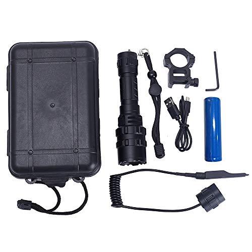 Linterna táctica, linterna LED recargable por USB, linterna de camping, linterna impermeable para camping, batería incluida