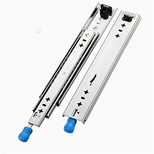 Lcuihong-Diapositivas de cojinetes 120kg Three Three Full Extension Full Duty Raind, Corredores de cajones con rodamiento de Bolas de Bloqueo (1 par) Duradero y Compatible (Color : 22 Inch(550mm))