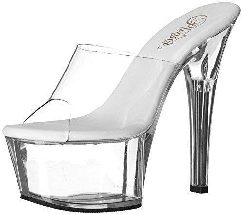 Pleaser Women's Aspire-601/c/m Platform Sandal, Clear, 6 M US