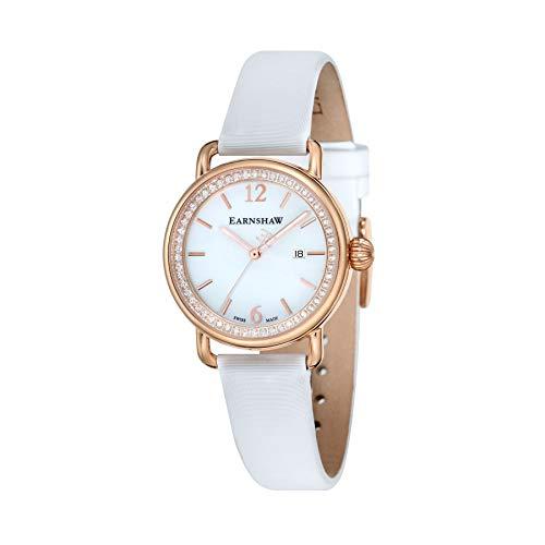 Thomas Earnshaw dames analoog kwarts smartwatch polshorloge met lederen armband ES-0022-08
