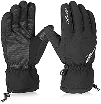 HiCool Unisex Winter Double Layer Ski Gloves