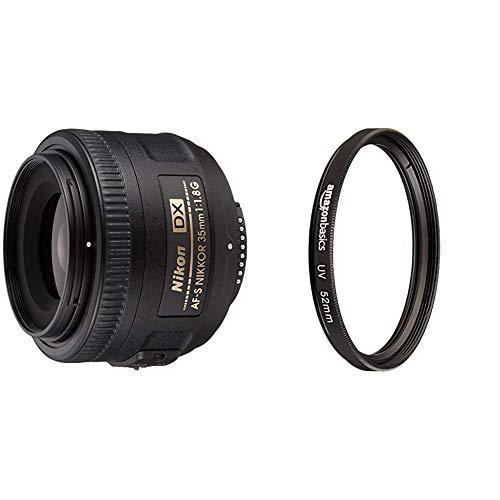 Nikon 単焦点レンズ AF-S DX NIKKOR 35mm f 1.8G ニコンDXフォーマット専用 & Amazonベーシック レンズフィルター UV保護 52mm CF26-N-52