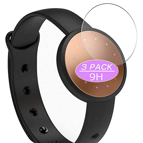 [3 Pack] Synvy Tempered Glass Screen Protector, Compatible with Misfit Shine 2 smartwatch Smart Watch 9H Film Protectors