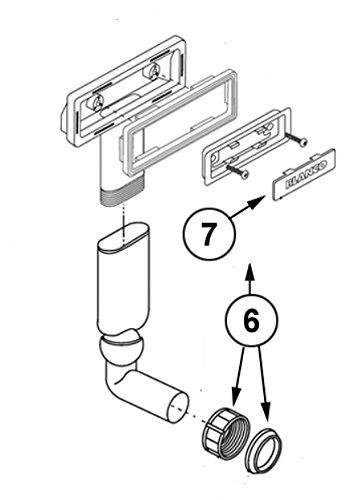 BLANCO Überlauf C-overflow® rechteckig Länge = 84 mm