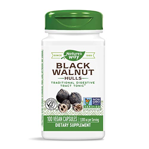Nature's Way, Black Walnut Hulls (Schwarznussschalen), 500mg, 100 Vegetarische Kapseln