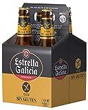 Estrella Galicia Cerveza sin Gluten, Paquete de 4 x 33cl