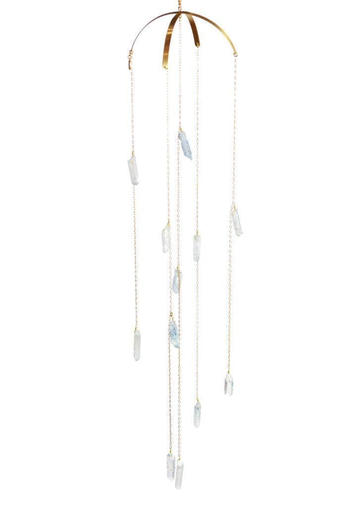 Max 89% OFF Ariana Ost Limited price Healing Crystal Mobile Quartz Aura Blue -