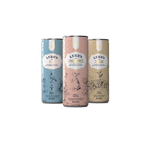 Lyre's Non-Alcoholic Mixed (Amalfi Spritz/G&T/Classico) Ready To Drink - Pack of 12 (3 Packs of 4 X 8.5 Fl Oz)