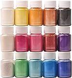 DEWEL Coloranti Resina Epossidica, Pigmenti in Polvere di Mica Metallizzata Naturale(10g * 15), per...